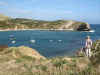 Lulworth cove dorset coastal path walking holiday